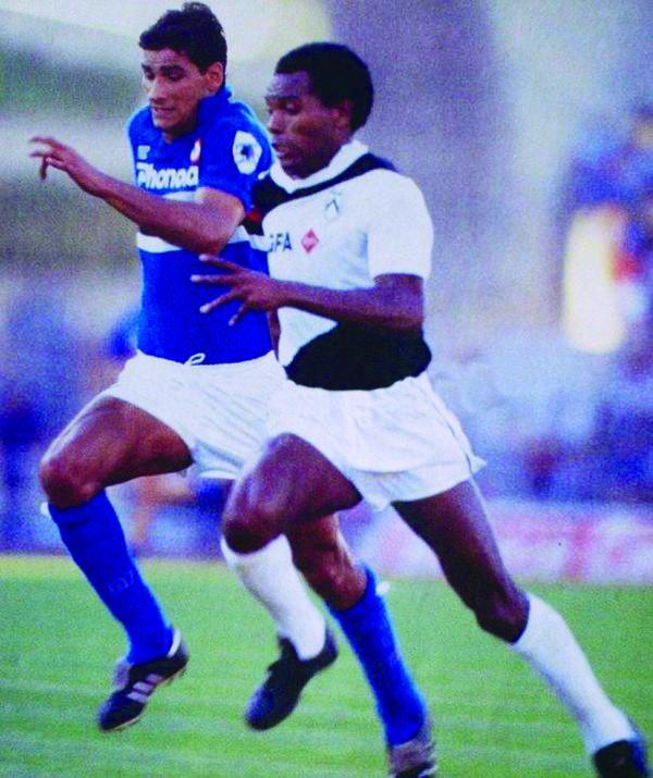 1985, Udinese 2 - Sampdoria 1, Lorenzo e Barbadillo.jpg
