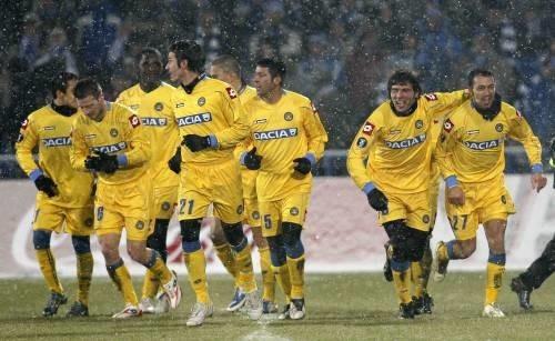 Lech Poznan Udinese gol di Quagliarella festeggiato.jpg